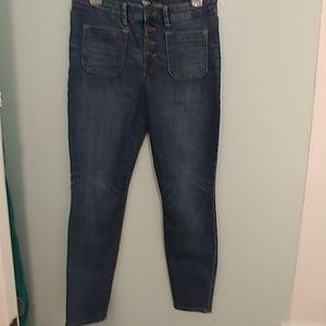 GAP sz6 Jean leggings, button fly